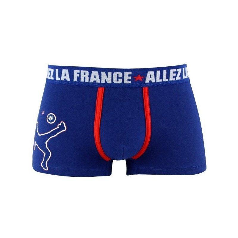 FFF Boxer Garçon Coton CAPITAINE Bleu