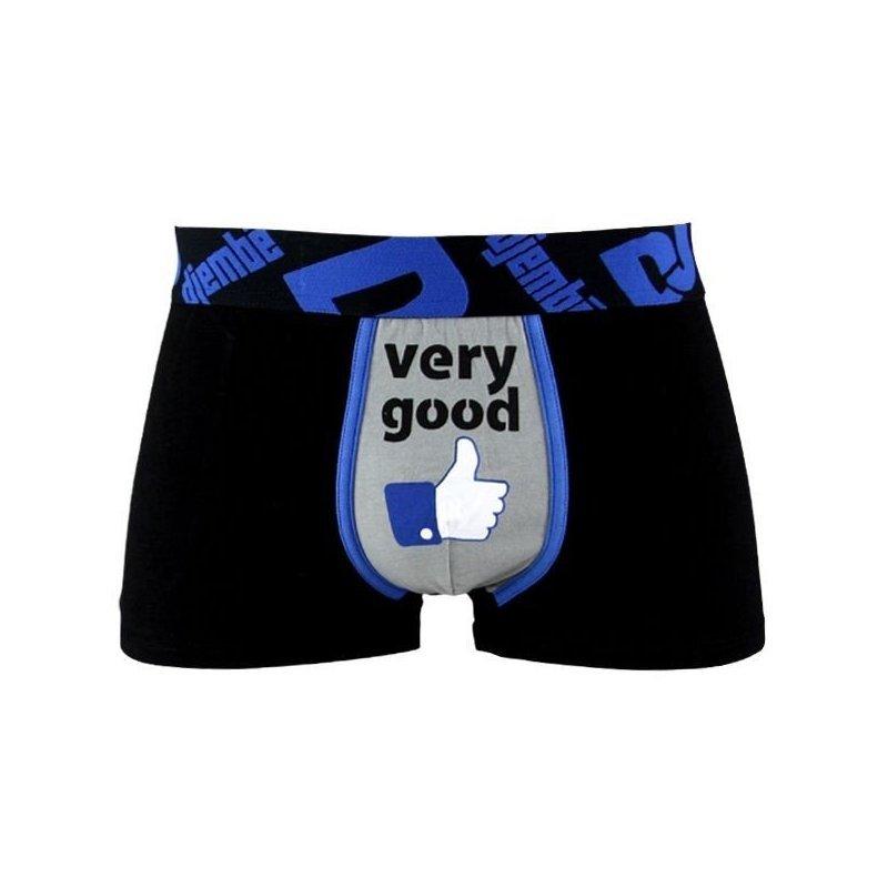 DJEMBE Boxer Homme Coton VERY GOOD Noir Bleu