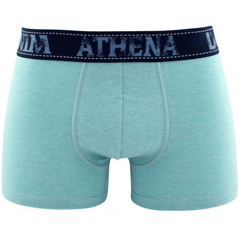 ATHENA Boxer Homme Coton DENIM Menthe Chiné