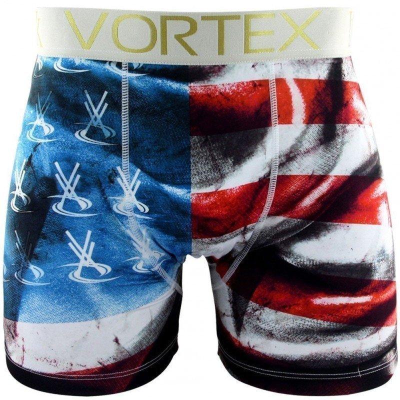 VORTEX Boxer Homme Microfibre FLAG Rouge