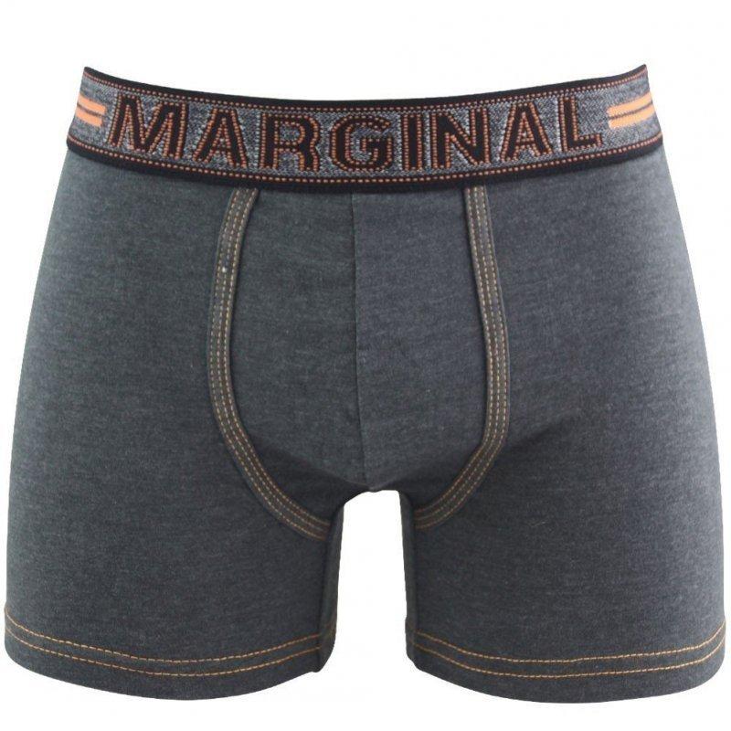 MARGINAL Boxer Homme Coton JEANS Anthracite Orange