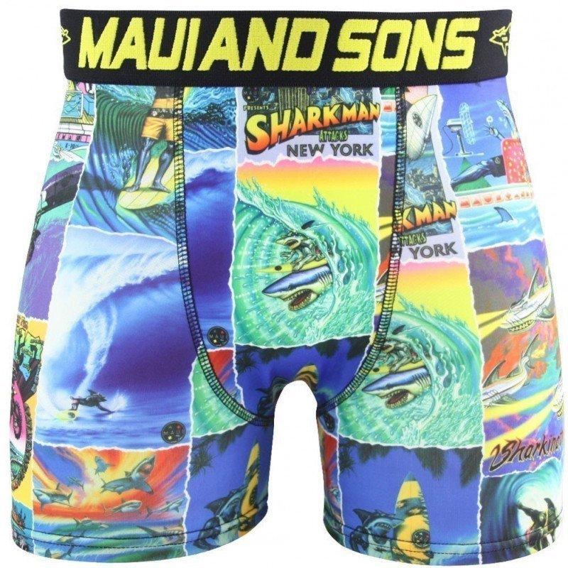 MAUI AND SONS Boxer Homme Microfibre SHARKMAN Jaune