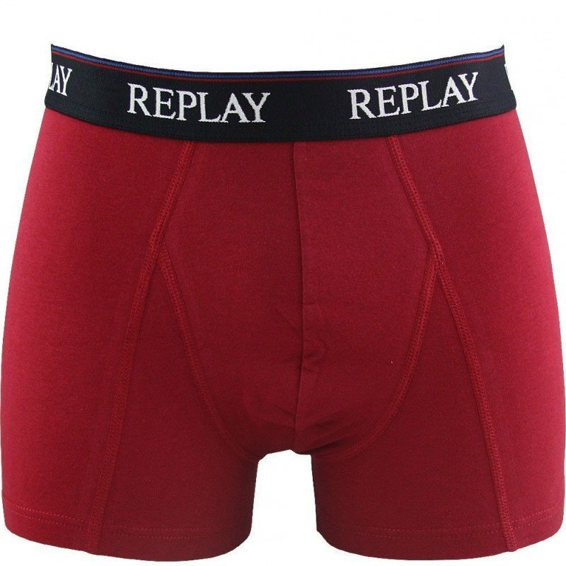 REPLAY Boxer Homme Coton UNI Rouge FC BARCELONE