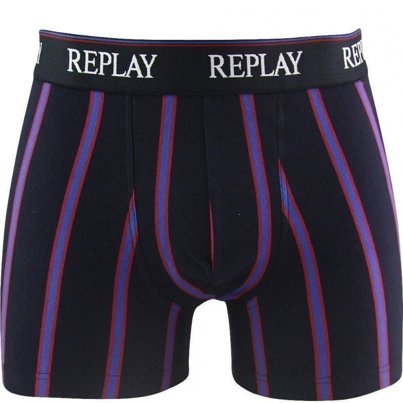 REPLAY Boxer Homme Coton RAY Marine FC BARCELONE