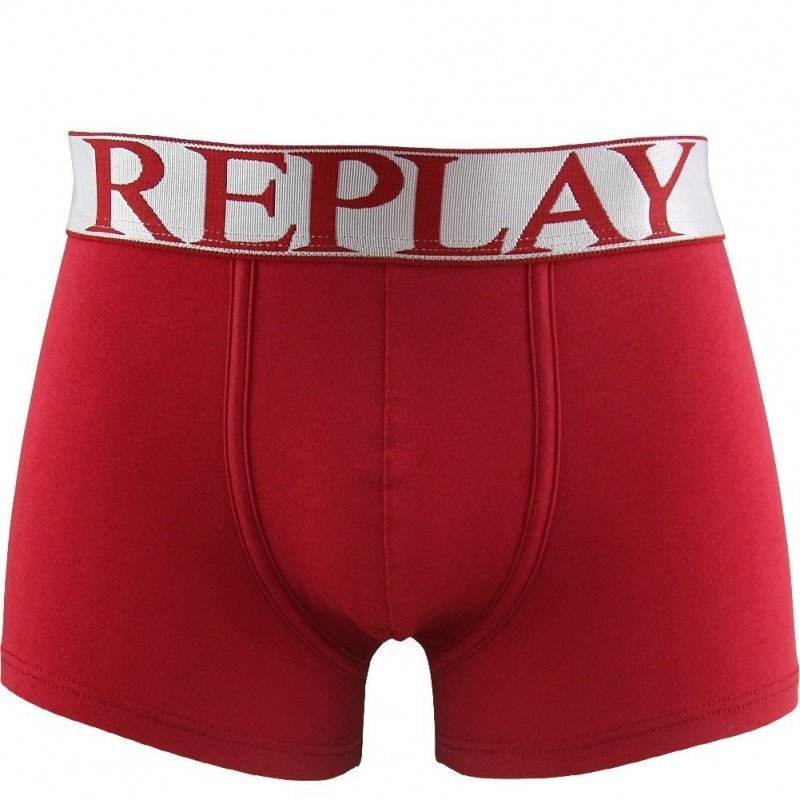 REPLAY Boxer Homme Coton INSC Rouge