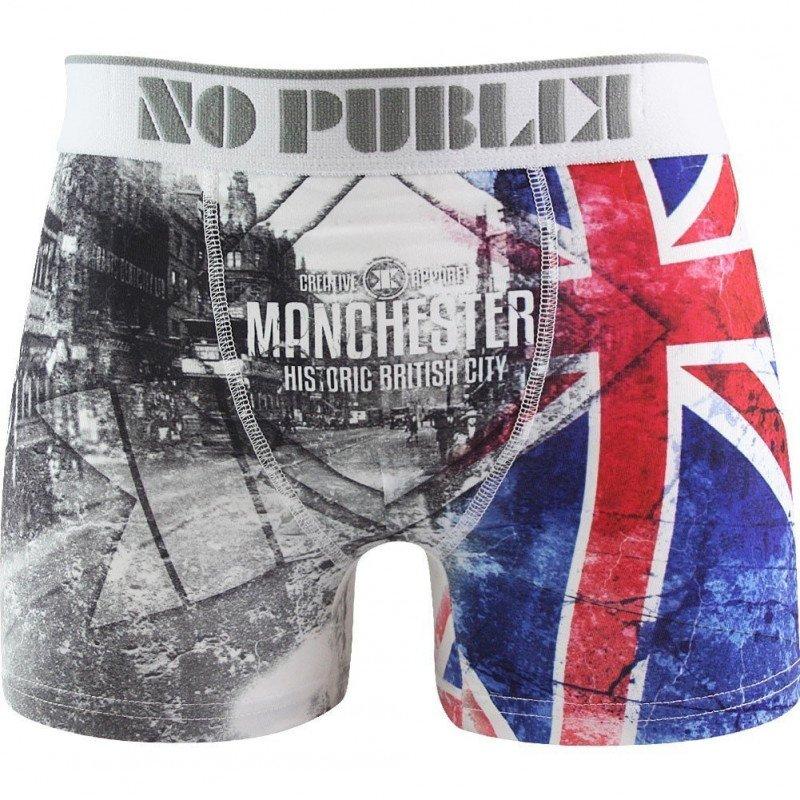 NO PUBLIK Boxer Homme Microfibre MANCHESTER Gris