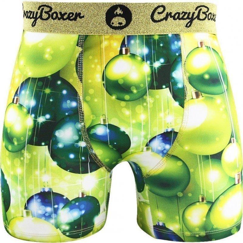 CRAZYBOXER Boxer Homme Microfibre BM4ASS6 BOULES Vert