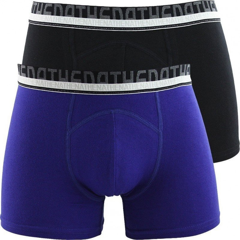 athena lot de 2 boxers homme coton bio noir indigo. Black Bedroom Furniture Sets. Home Design Ideas